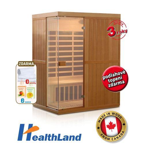 Domáca infrasauna HealthLand DeLuxe 3300 Carbon