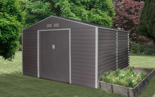 Šedý záhradný domček G21 GAH 529 - 277 x 191 cm
