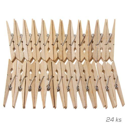 Štipce na bielizeň drevo 24ks