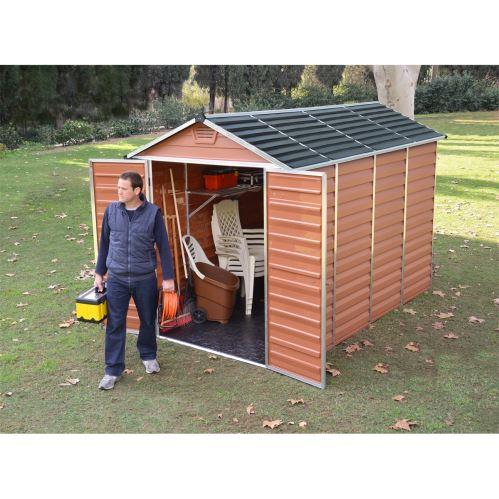 Záhradný domček Palram Skylight 6x10 hnedý