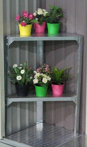 Regál G21 42 x 42 cm rohový, pro zahradní domky a skleníky