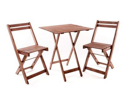 Balkónový set so štvorcovým stolom Acacia