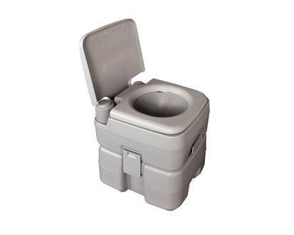 HAPPY GREEN Prenosná toaleta 20 litrov sivá