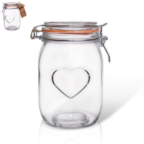 Dóza sklo patent BELA 1 l srdce