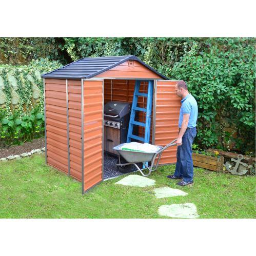 Hnedý záhradný domček Palram Skylight 6x5