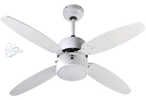 Biely stropný ventilátor Farelek Samoa