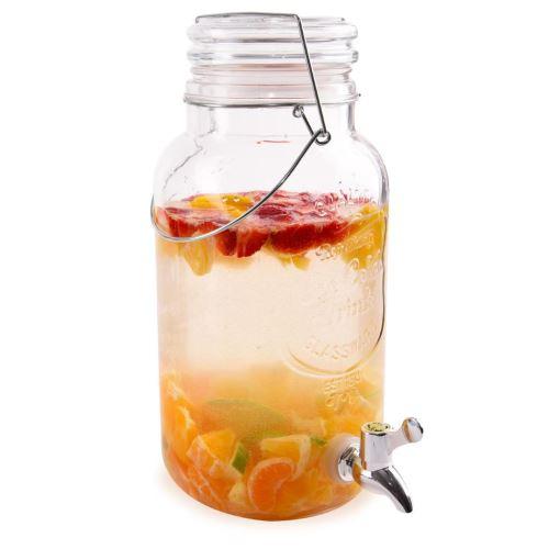 Fľaša sklo+kohútik 3,5 l