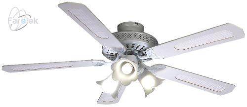 Biely stropný ventilátor Farelek Baleares B