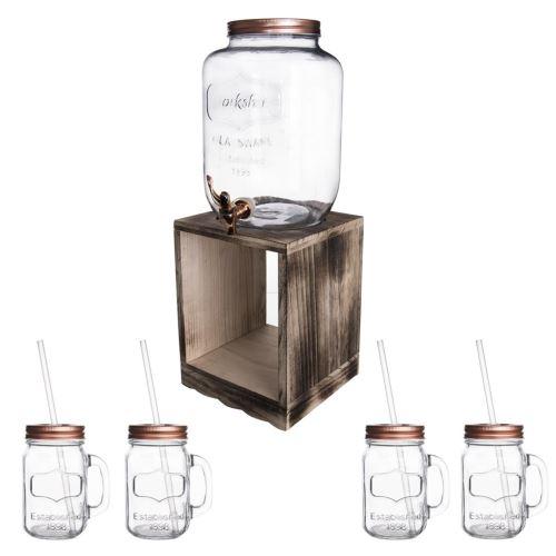 Orion Fľaša sklo 8,8 l+kohútik+stojan 4 + 1