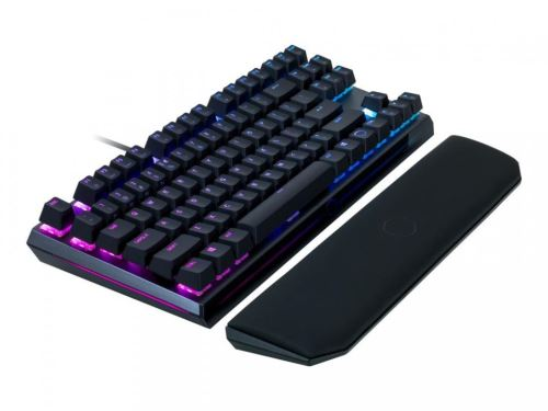 Cooler Master MK730, herní klávesnice, RED Switch, RGB LED, US layout, černá