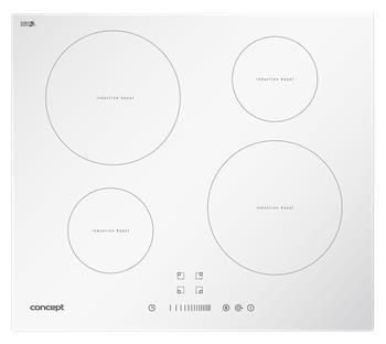 Indukčná doska Concept vstavaná sa sliderom IDV2760WH White