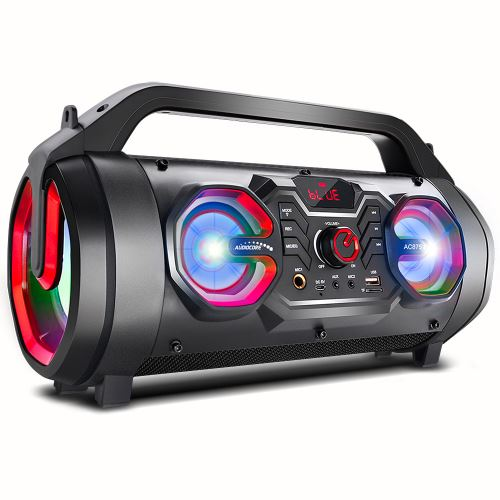 Prenosný reproduktor Audiocore Bazooka, bluetooth 5.0, FM rádio, micro karta, SDIPX4, 2000 mAh, AC875, 72268
