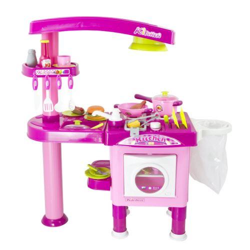 Detská kuchynka G21 veľká s príslušenstvom ružová 690665