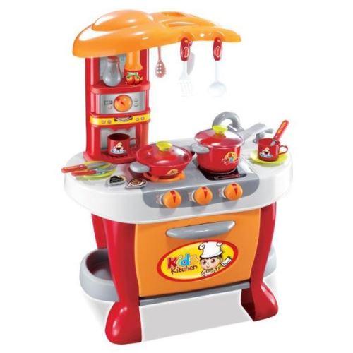 Detská kuchynka G21 s príslušenstvom oranžová 690956