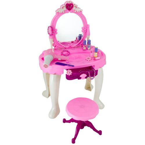 G21 Kozmetický stolík BEAUTIFUL s fénom 690401 ružový