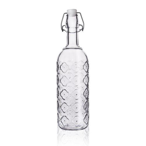 Fľaša sklo CLIP uzáver 0,75 l