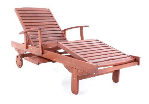 Pohodlné drevené lehátko VeGA Meranti Spa