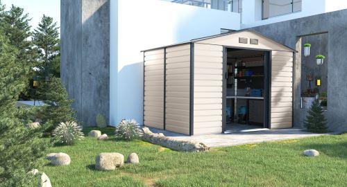 Záhradný domček G21 GAH 529 - 277 x 191 cm béžovo sivý 6390064