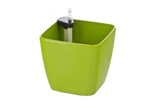 Samozavlažovací kvetináč G21 Cube zelený 22 cm