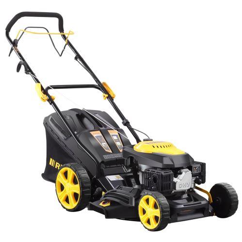 Multifunkčná trávna kosačka Riwall PRE RPM 4735 4v1 s pojazdom
