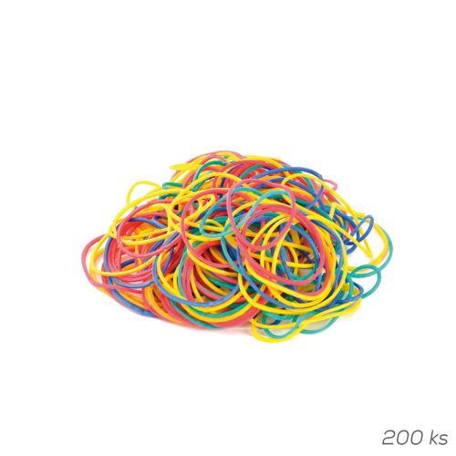 Farebné gumičky priemer 3,5 cm 200 ks