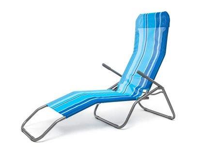 Vetro HAPPY GREEN Plážové ležadlo s modrými pruhmi VET50F2031BS