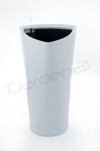 G21 Samozavlažovací kvetináč Trio biely 56.5cm