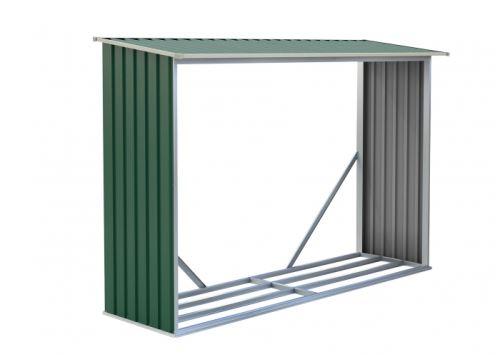 Přístrešok na drevo G21 WOH 181 242 x 75 cm zelený 63900492