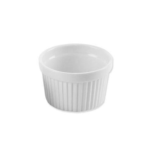 Miska zapekacia porc. biela 9x5,5 cm