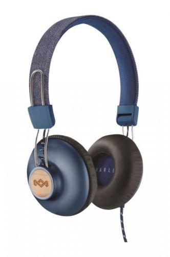 MARLEY Positive Vibration 2.0 - Denim, sluchátka přes hlavu s ovladačem a mikrof