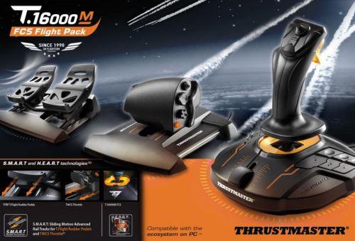 Thrustmaster Joystick T16000M FLIGHT PACK + plynový pedál + pedálová sada, pre PC TH0150