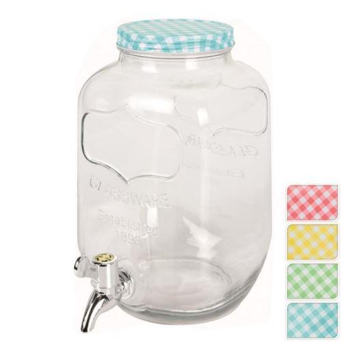 Fľaša sklo+kohútik 4 l ASS