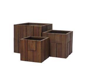 Kvetináč G21 Wood Cube 55cm