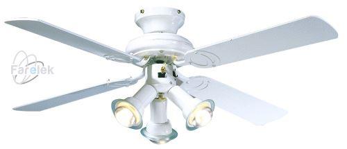 Biely stropný ventilátor Farelek Maldives