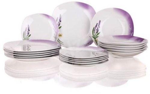 Banquet Sada porcelánových tanierov Lavender 18 ks