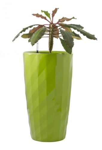 Samozavlažovací plastový kvetináč G21 Diamant zelený 57 cm 6392532