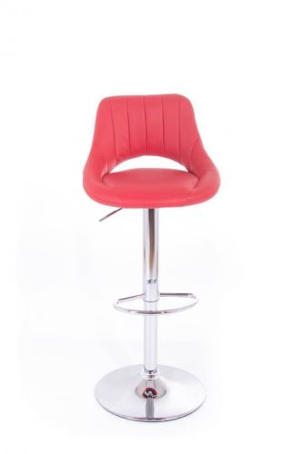 Koženková barová stolička G21 Aletra - červená