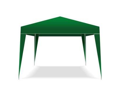 Tmavo zelený party altánok Happy Green 3 x 3 m