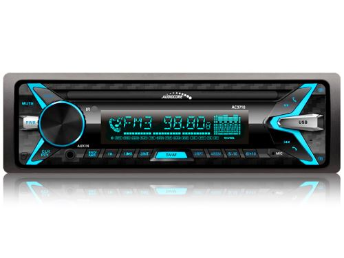 Čierne autorádio AUDIOCORE AC9710 B Bluetooth