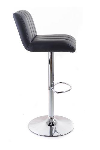 Barová stolička G21 Malea koženková, prošívaná black