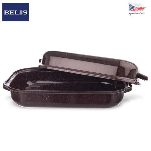 Pekáč smalt hnedý BELIS 27,5x18,5 cm veko